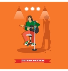 Country song guitarist playing guitar Music rock vector image vector image