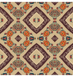 Floral seamless pattern in tribal style Ethno vector image vector image