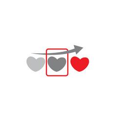 heart scan vector image