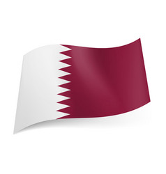 national flag of qatar white and maroon bands vector image vector image