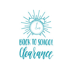 back to school clearance handwritten vector image vector image