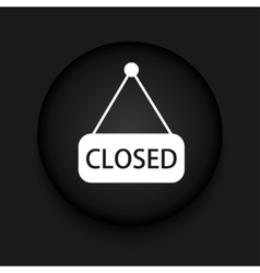 modern closed black circle icon vector image