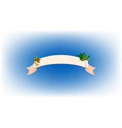 ribbon Christmas bells vector image