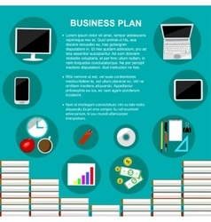 Business plan concept template vector