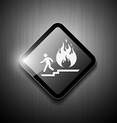 Fire exit sign modern design vector image