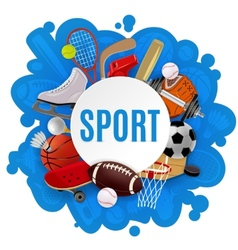 Sport Equipment Concept vector image