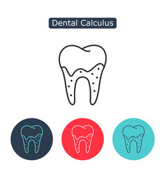 tartar or calculus teeth icon vector image vector image
