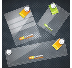 transparent glass banners vector image vector image