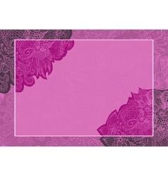 floral wedding card invitation vector image