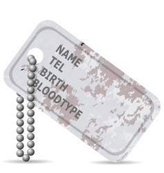 Military Dog Tag vector image