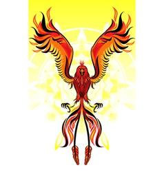 phoenix flame bird vector image vector image