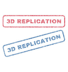 3d replication textile stamps vector image