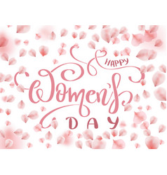 8 march - happy womens day vector image
