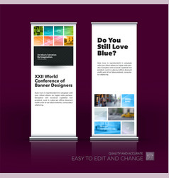 abstract business set of modern roll up vector image
