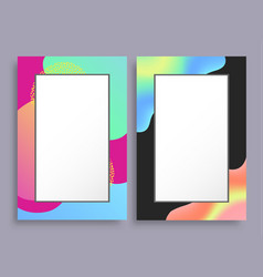 abstract photoframe with blurred pattern on border vector image