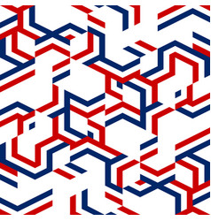 Abstract red and blue geometric pattern vector