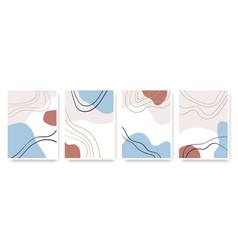 Abstract shapes hand drawn set contemporary vector