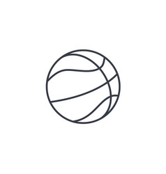 basketball ball thin line icon linear vector image