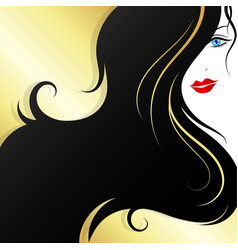 Beautiful girl with an elegant hairstyle vector