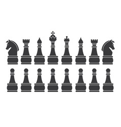 black chess set vector image