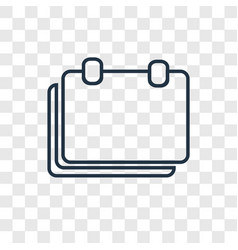 Break concept linear icon isolated on transparent vector