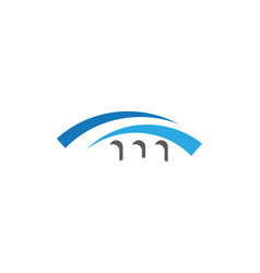 bridge icon logo template design vector image