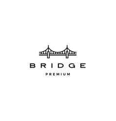 bridge logo icon line outline monoline vector image