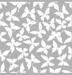 butterflies seamless patterns vector image