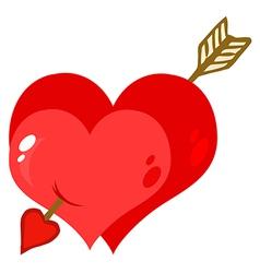 Cartoon valentines heart vector