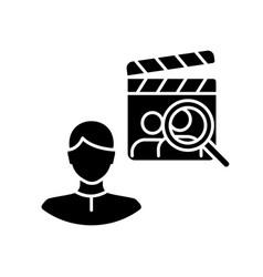 Casting director black glyph icon vector