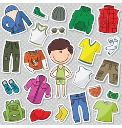 casual clothes for boys vector image