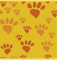 Cats paw seamless vector