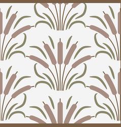 cattail plant cartoon seamless pattern vector image