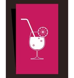 Cocktails menu design vector image