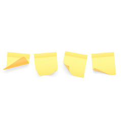 collection yellow colored sheets note vector image
