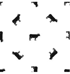 cow pattern seamless black vector image