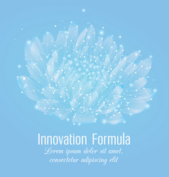 creative polygonal flower on light blue background vector image