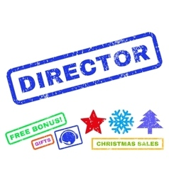 Director Rubber Stamp vector