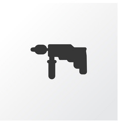 drill icon symbol premium quality isolated vector image