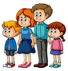 family with parents and kids vector image