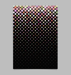 geometrical pattern poster template - tile mosaic vector image