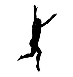 girl gymnast jump in vaulting table vector image