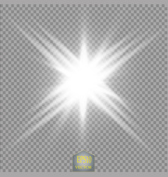 glow light effect star burst with vector image
