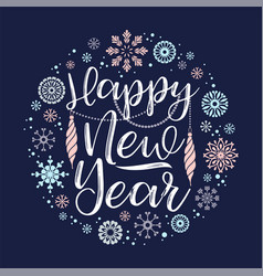 Happy new year lettering designs vector