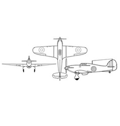 Hawker hurricane i all vector
