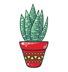home cactus icon beautiful decorative green vector image