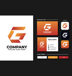 initial g logo design template vector image