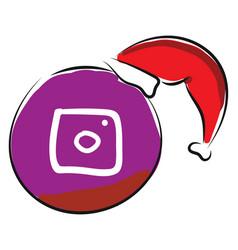 Instagram logo or color vector