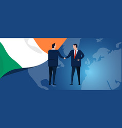 ireland international partnership diplomacy vector image