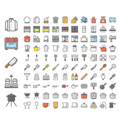 kitchen utensils bakery equipments chef uniform vector image